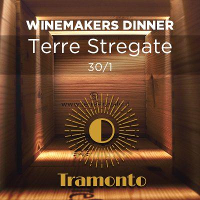 WINEMAKERS DINNER TERRE STREGATE – onsdag, 30. januar 2019 på Tramonto