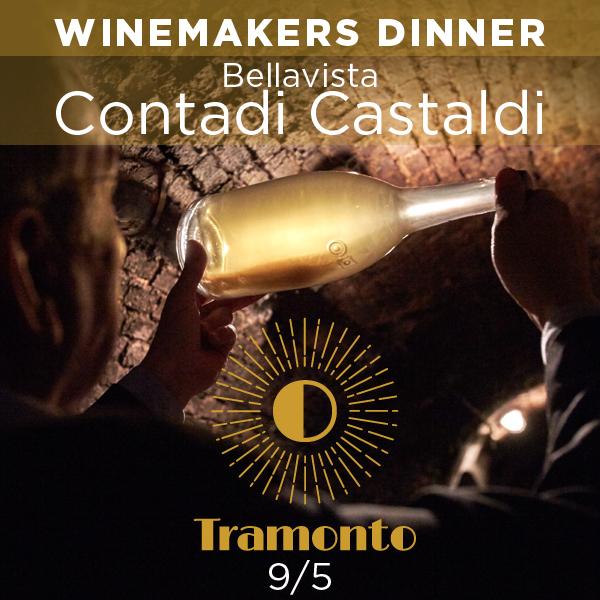 Winemakers Dinner BELLAVISTA-CONTADI CASTALDI på Tramonto, torsdag d. 9. maj, kl. 18.30