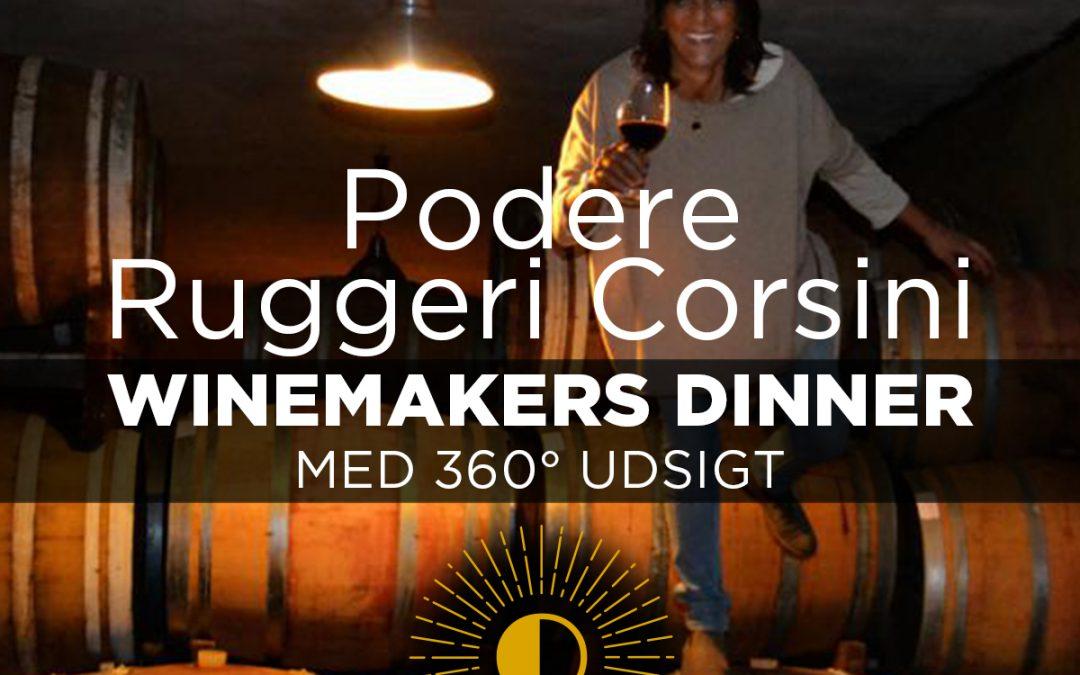 WINEMAKERS DINNER med Podere Ruggeri Corsini på Tramonto, onsdag d. 13. november, kl. 18.30