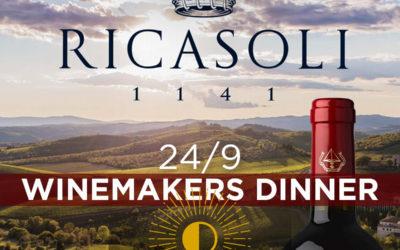Winemakers Dinner BARONE RICASOLI på Tramonto, torsdag d. 24. september 2020, kl. 18.30